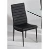 Victoria Black Channel Seat and Back Chair
