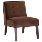 Madera Contemporary Lounge Chair in Chocolate Microfiber