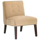 Madera Coffee Lounge Chair with Tapered Legs