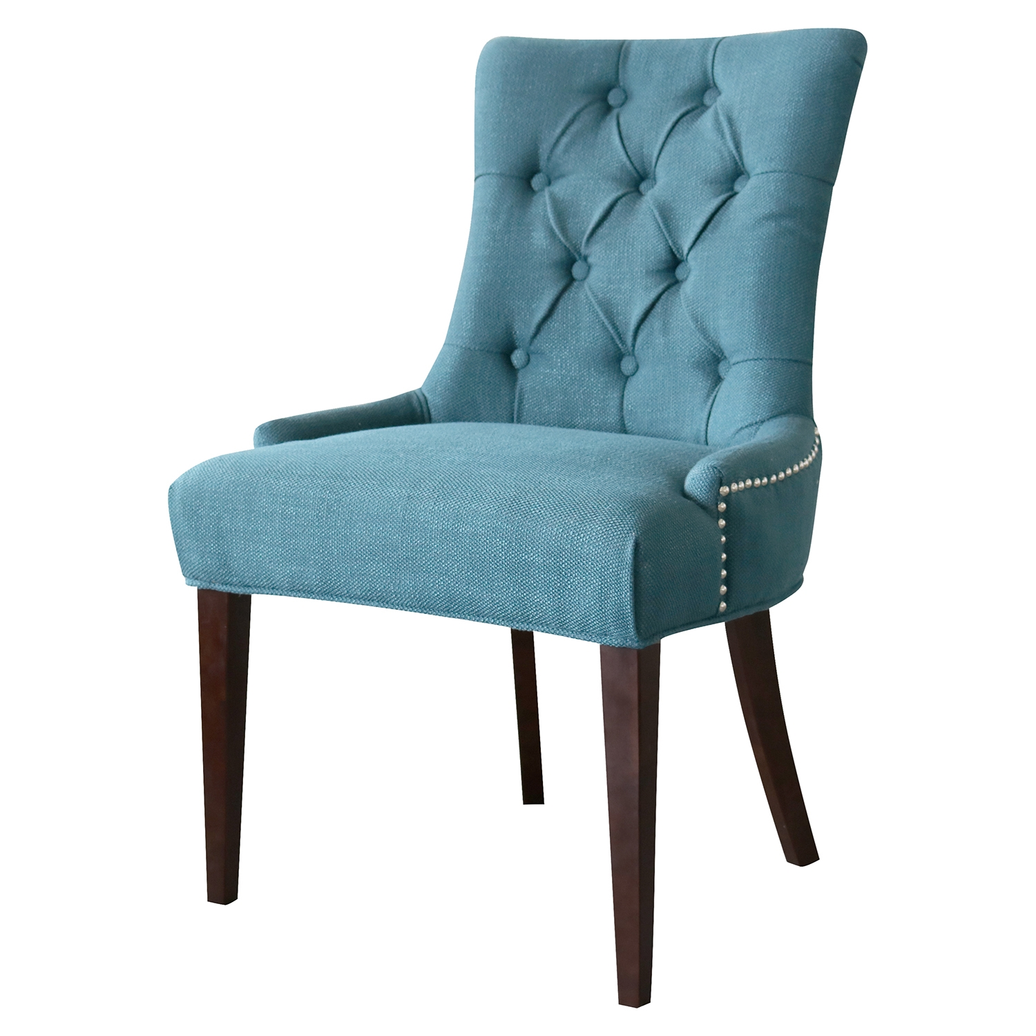Madelyn Chair - Ocean, Button Tufted