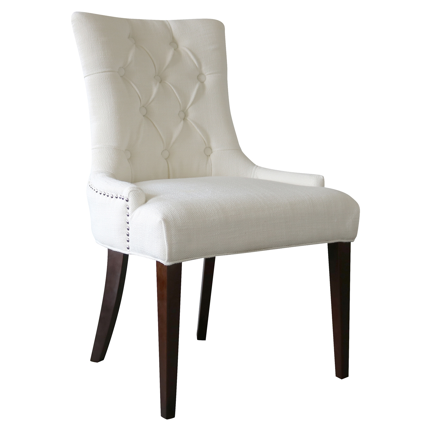 Madelyn Chair - Snow, Button Tufted - CP-200-06