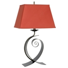 Curve Contemporary Table Lamp with Paprika Shade