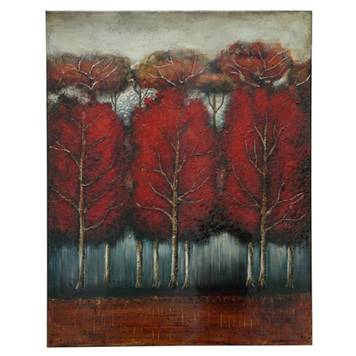 Forest Fire Wall Art on Stretched Canvas