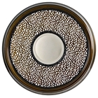 Cassandra Round Mirror with Decorative Metal Frame