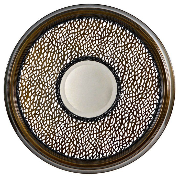 Cassandra Round Mirror with Decorative Metal Frame - CVC-CVIMR011