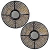 Cassandra Metal Wall Art with Round Mirror (Set of 2)