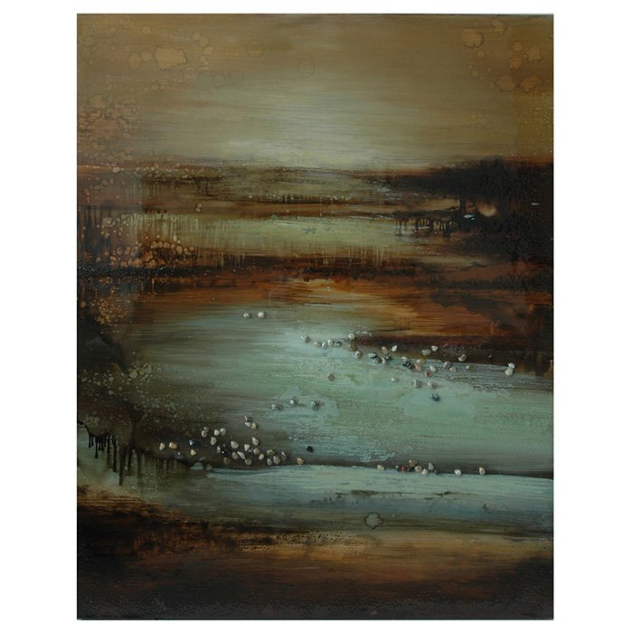 Mysterious Lake Wall Art on Stretched Canvas