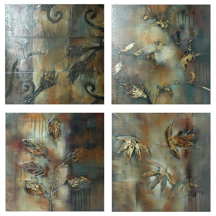 Falling Debris 4-Piece Painting on Canvas