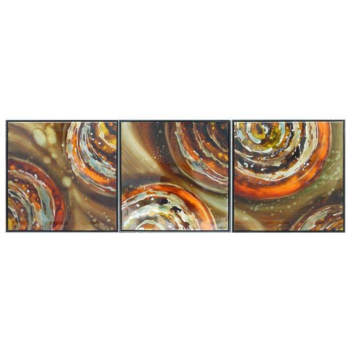 Supernova 3-Piece Oil Painting with Frame