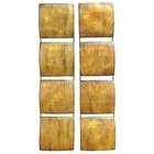 Gold Panels 2-Piece Metal Wall Art