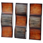Waves in Sunset 3-Piece Metal Wall Decor
