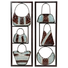 Handbags 2-Piece Metal Wall Art