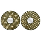 Round Disc Metal Wall Art (Set of 2)