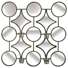 Frames Metal Wall Art with Candle Holder