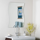 Modern Frameless Wave Wall Mirror - SSM1001