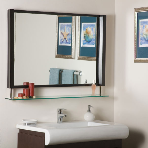 New Amsterdam Framed Mirror with Shelf