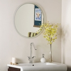 Large Round Frameless Bathroom Mirror