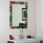 Mosaic Frameless Bathroom Mirror