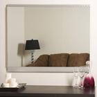 Large Brushed Border Wall Mirror