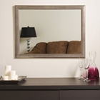 Distressed Large Framed Wall Mirror