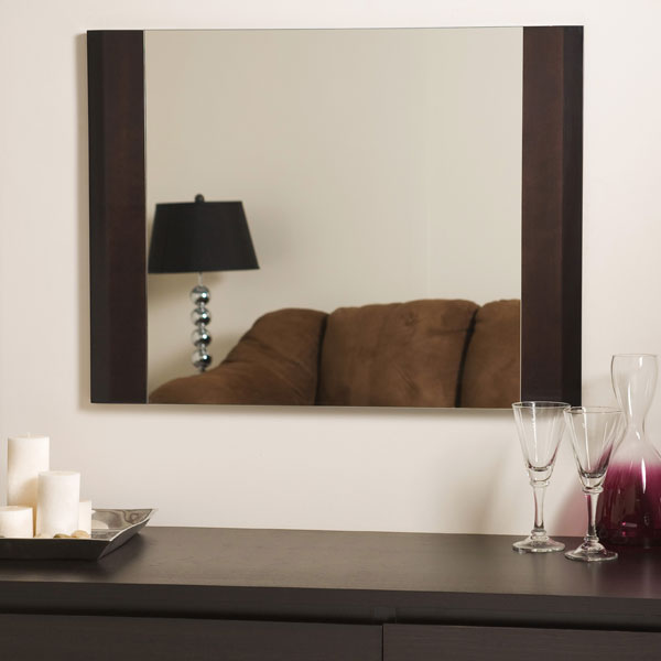 Rich Brown Furniture Framed Wall Mirror