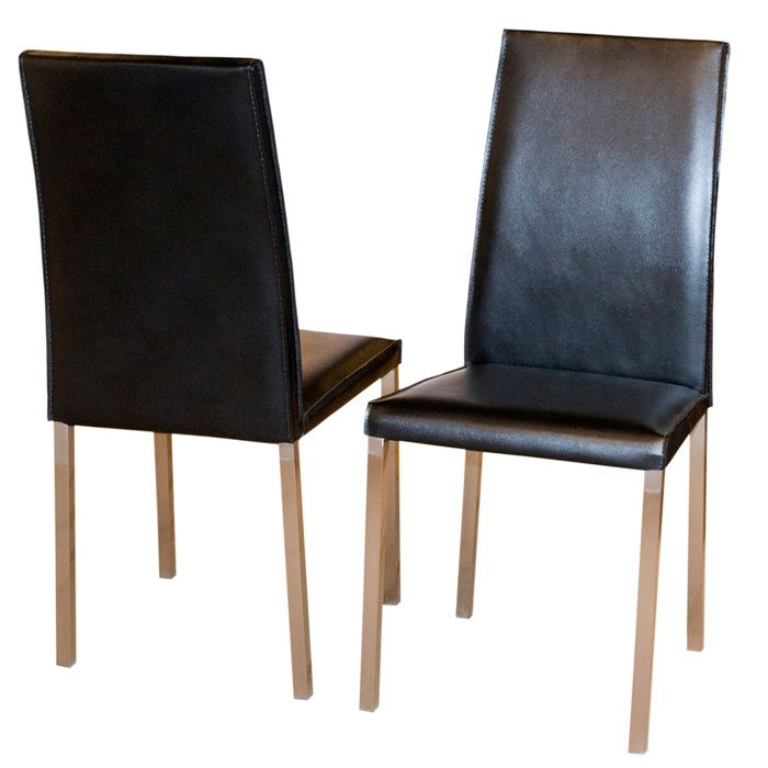 Leather Dining Chairs in Supple Mocca
