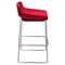 Backless Bar Stool - Red, Chrome Base (Set of 2) - DS-A98STRE