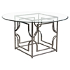 Avalon Round Dining Table - Clear Glass Top