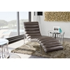 Bardot Chaise Lounge - Bonded Leather, Gray