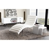 Bardot Chaise Lounge - Bonded Leather, White