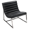 Bardot Lounge Chair - Bonded Leather, Black