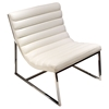 Bardot Lounge Chair - Bonded Leather, White