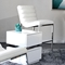 Bardot Counter Height Chair - Bonded Leather, White - DS-BARDOTSTWH