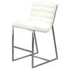 Bardot Counter Height Chair - Bonded Leather, White
