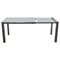 Carbon Extension Dining Table - Gray, Glass Top - DS-CARBONDT