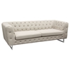 Catalina Button Tufted Sofa - Sand Fabric