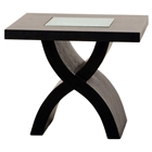24 Inch Square End Table with X-Shaped Base