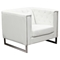 Chelsea Leatherette Chair - Tufted, White - DS-CHELSEACHWH