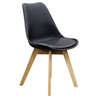 Coda Dining Chair - Black Leatherette (Set of 2)