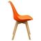 Coda Dining Chair - Orange Leatherette (Set of 2) - DS-CODACHOR