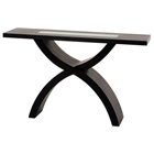 55 Inch Rectangle Console Table with X-Shaped Base