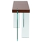 Console Table - Java Veneer Top, Glass Legs - DS-CS776JV