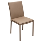 Dining Leatherette Chair - Coffee (Set of 2)