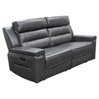 Duncan Dual Reclining Sofa - Leatherette, Slate Gray