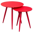 Duo 2 Pieces Nesting Tables - High Gloss Red