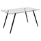 Finn Rectangular Dining Table - Glass Top - DS-FINNDT