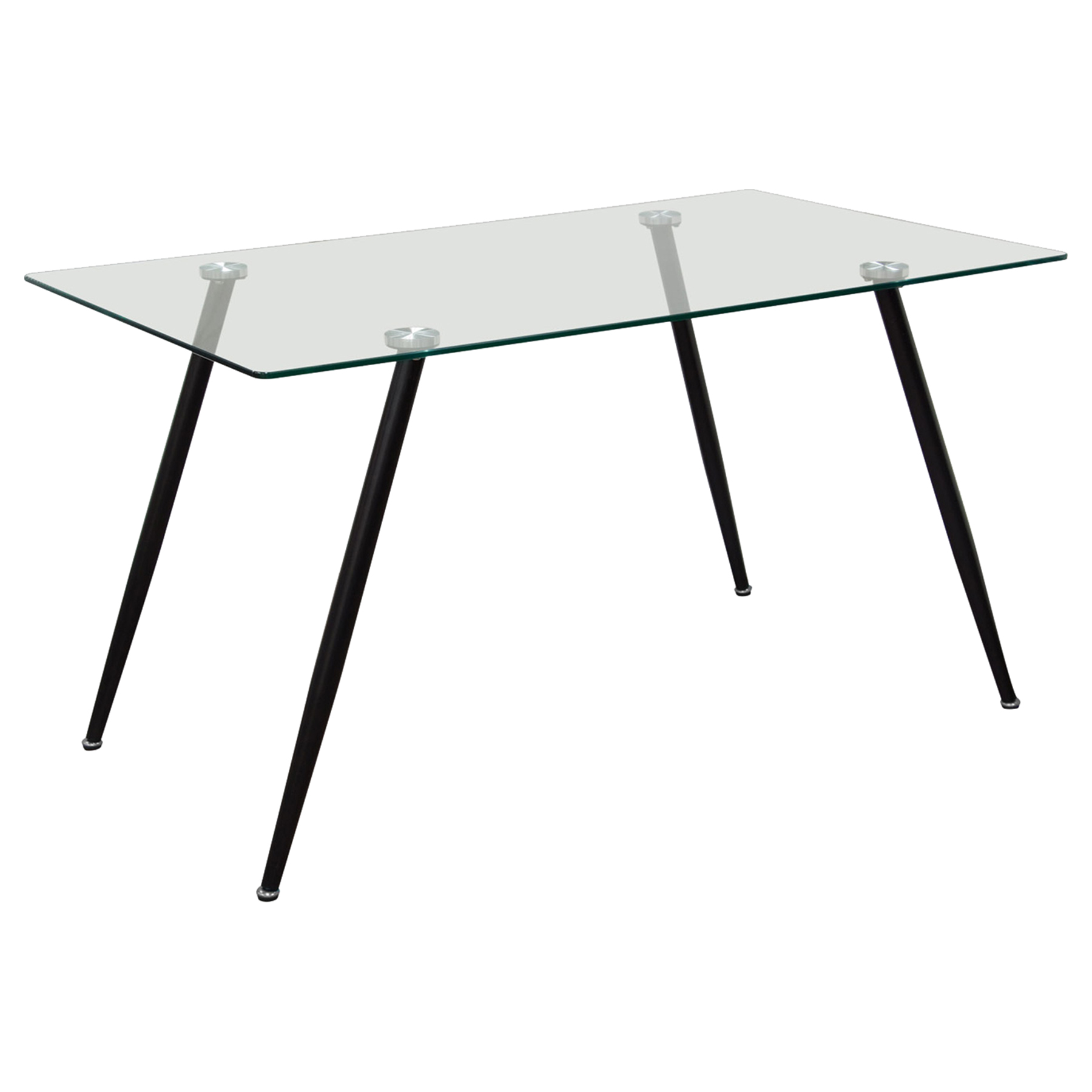 Finn Rectangular Dining Table - Glass Top