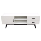 Focus Entertainment Cabinet - 2 Drawers, 1 Door, White