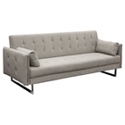 Hampton Convertible Tufted Sofa - Sandstone Fabric