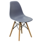 Ion Dining Chair - Gray Plastic (Set of 2)